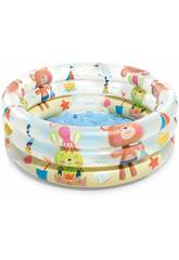 Piscina 3 Tubos Animalitos 61x22 cm. Intex 57106