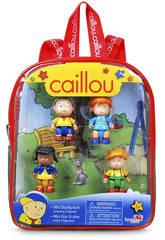 Caillou Mini sac à dos avec 5 figurines