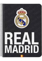 Cahier Couverture Rigide 80 pages Real Madrid Officiel