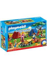 Playmobil Campamento con Fogata