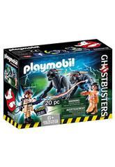 Playmobil Venkman, Dana und Hunde von Gozer Ghostbusters 9223