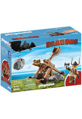 Playmobil Dragons Gueulfor avec Catapulte 9245