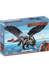 Playmobil Como Entrenar a Tu Dragón Hipo y Desdentado 9246