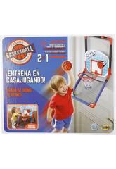 Canestro Basket 2 in 1 con Palla 13,5 cm