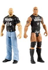 WWE Pack 2 Figuras Tough Talkers 15 cm. Mattel DXG91