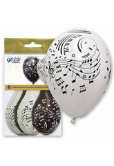 Ballons Gonflables Gold Notes Musicales Globolandia