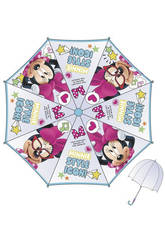 Parapluie Enfant Minnie 48/8 Manuel Transparent avec Dôme Bisetti WD9751