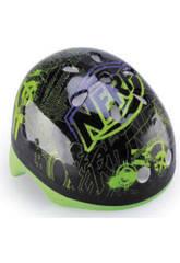 Grün und schwarz Helm 56-58 Cm