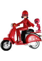 Figura Ladybug con Moto 14 cm Bandai 39880