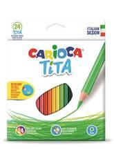 Boîte 24 Couleurs Tita Maxi Hexagonal Carioca 42794