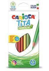 Boîte 12 Couleurs Tita Maxi Triangulaire Carioca 42786