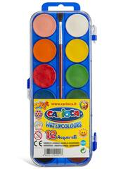 Acuareles 12 unidades con Pincel Carioca K040