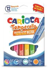 Gouaches Temperello 12 unités Carioca 42738