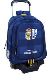 Sac à dos Trolley Real Madrid Bleu Safta 611724313