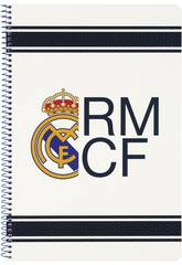 Cahier Couvertures Rigides 80 feuilles Real Madrid Safta 511654066