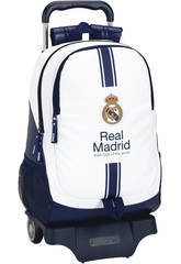 Zaino Trolley Real Madrid Bianco Safta 611654864