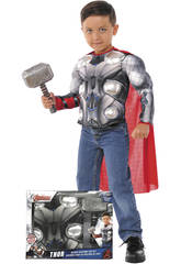 Disfarce Menino Thor Peito com Martelo Rubies 34104