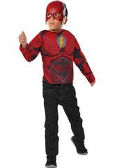 Déguisement Enfant Flash de la Justice League avec Masque et Torse Musclé Rubies 34075
