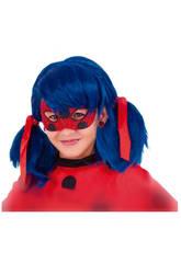Accessoire Fête : Masque Deluxe Miraculeuse Ladybug Enfant 7 X 16 cm