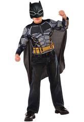 Disfraz Niño Batman Con Máscara y Pecho Musculoso Rubies 34071