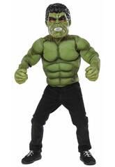 Costume Bambino Hulk Petto con Maschera