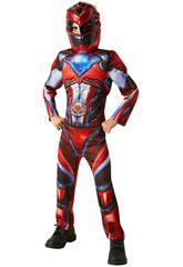 Costume Bimbo Ranger Rosso Movie Deluxe L Rubies 630711-L