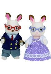 Famílias Sylvanian Chocolate Rabbit Avós Epoch To Imagine 5190