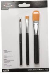 Kit de 3 Pinceaux Maquillage Différentes Tailles