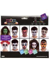 Set de Maquillaje Deluxe Halloween Hasta 10 Caras Diferentes
