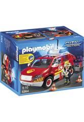 Playmobil Coche Jefe de Bomberos con Luces