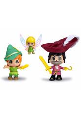Pin y Pon, Peter Pan, Garfio e Campanilla