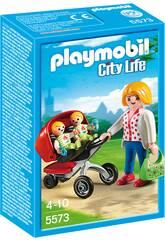 Playmobil Maman avec Baladeuse de Jumeaux