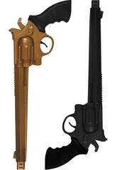 2 Revólvers de 36 cm.Ouro e Preto