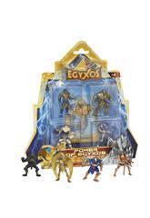 Egyxos Blister 4 Figuras + 4 Cartas. Giochi Preziozi GYX03111