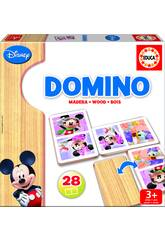 Domino en bois Mickey et Minnie