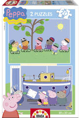 Puzzle 2 X 20 Peppa Pig