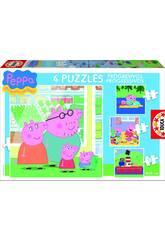 Puzzle Aufsteigend 6-9-12-16 Peppa Pig