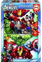 Puzzle 2 X 48 Avengers Educa 15932