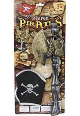 Set Armas Piratas con Hacha y Gorro