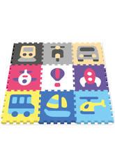 Tappeto Puzzle Veicoli 10 pezzi 40 cm