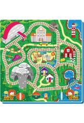 Tappeto Puzzle Treno 9 tessere