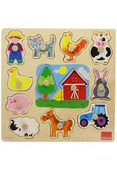Puzzle Silueta Granja Goula 53025