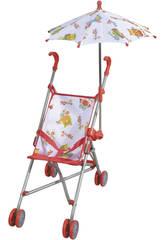 Passeggino bambola pieghevole con ombrello Gufi
