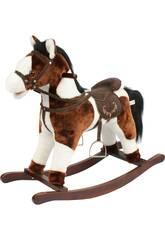 Cavallo a Dondolo Marrone/Bianco Con Suoni