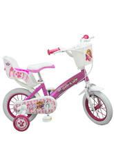 Bicicleta Patrulla Canina Niña 12 Sillita y Cesta
