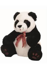 Peluche Oso Panda Lazo Cuadros 35 cm Llopis