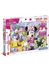 Puzzle Minnie Glitter 104 Piezas Clementoni 20146