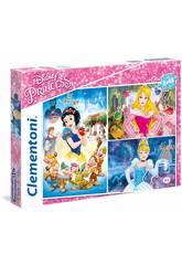 Puzzle 3x48 Princesas Disney Clementoni 25211
