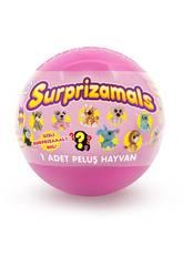 Série Suprazimals 1 Bola com Surpresa Recheada de 6 cm. Beysal SUR10113