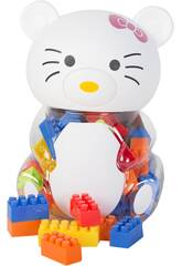 Tirelire Chat Blanc Porte Blocs de Construction